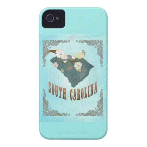 Mapa del estado de Carolina del Sur del vintage -  iPhone 4 Protectores