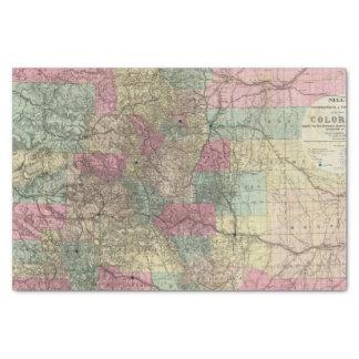 Mapa del estado de Colorado Papel De Seda Pequeño