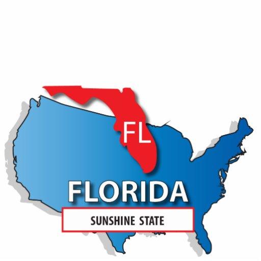 Mapa del estado de la Florida Escultura Fotográfica