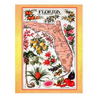 Mapa del estado de la Florida (reimpresión del Postal
