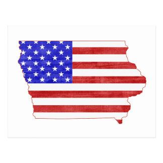 Mapa del estado de la silueta de Iowa los E.E.U.U. Tarjetas Postales