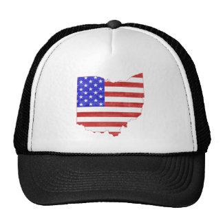 Mapa del estado de la silueta de la bandera de gorras de camionero