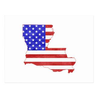 Mapa del estado de la silueta de Luisiana los Tarjetas Postales