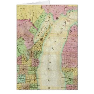 Mapa del estado de Michigan Tarjeton