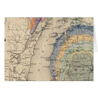 Mapa del estado de Michigan Tarjeta De Felicitación