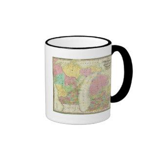 Mapa del estado de Michigan Tazas De Café