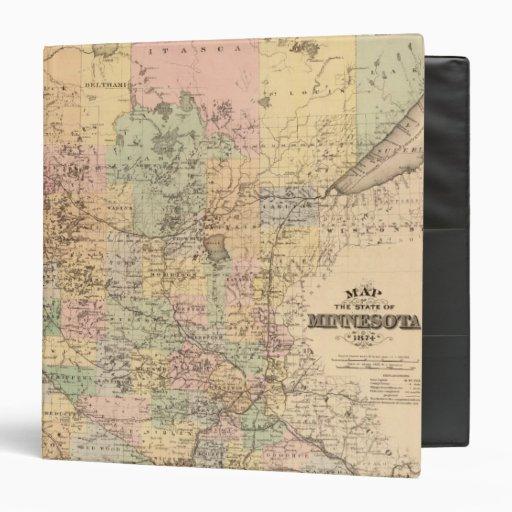 """Mapa del estado de Minnesota, 1874 Carpeta 1 1/2"""""""