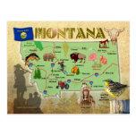 Mapa del estado de Montana Postal