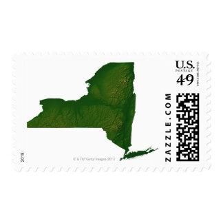 Mapa del Estado de Nuevo York Sellos
