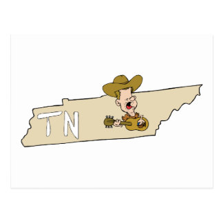 Mapa del estado de Tennessee TN y música de Postal