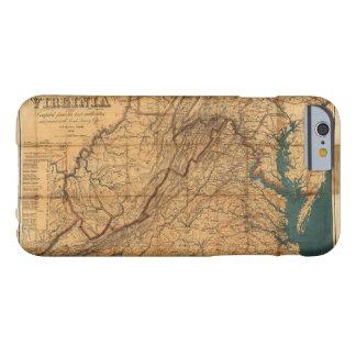 Mapa del estado de Virginia de Nicholson (1862) Funda Para iPhone 6 Barely There