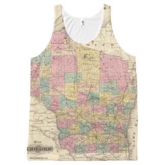 Mapa del estado de Wisconsin