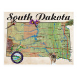 Mapa del estado del SD Tarjeta Postal