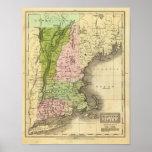 Mapa del este de Olney de los estados Impresiones