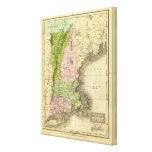 Mapa del este de Olney de los estados Impresiones De Lienzo