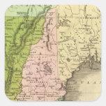 Mapa del este de Olney de los estados Pegatina Cuadrada