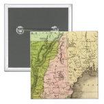 Mapa del este de Olney de los estados Pin Cuadrado