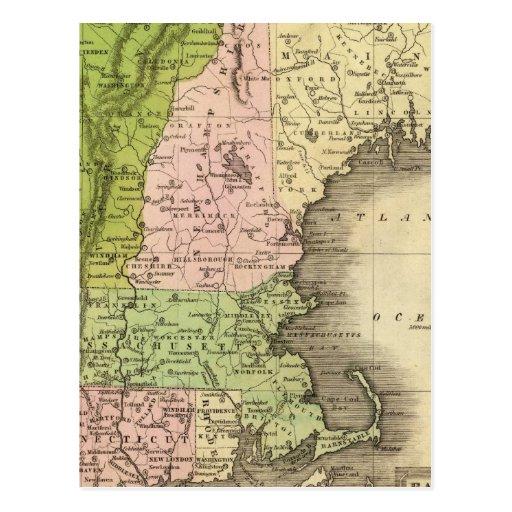 Mapa del este de Olney de los estados Postal