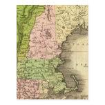 Mapa del este de Olney de los estados Tarjetas Postales