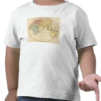 Mapa del este del hemisferio camisetas