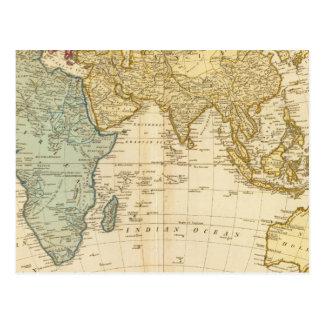 Mapa del este del hemisferio postal