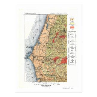 Mapa del estudio geológico de los E.E.U.U. Tarjetas Postales