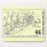 Mapa del ferrocarril 1956 de New Haven Alfombrilla De Ratones