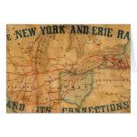 Mapa del ferrocarril de Nueva York y de Erie Tarjetas