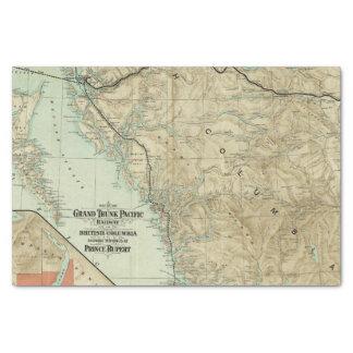 Mapa del ferrocarril magnífico del Pacífico del Papel De Seda Pequeño