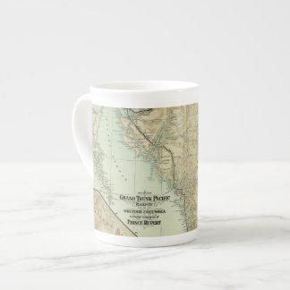 Mapa del ferrocarril magnífico del Pacífico del Taza De Porcelana