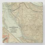 Mapa del ferrocarril magnífico del Pacífico del tr Posavasos De Piedra