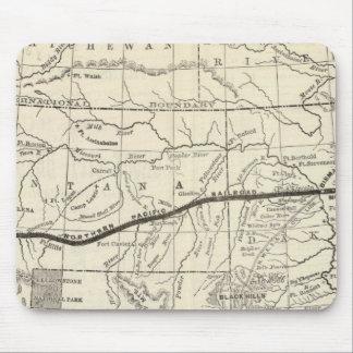 Mapa del ferrocarril pacífico septentrional alfombrillas de ratones