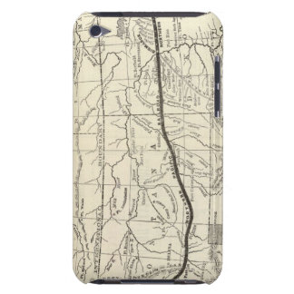 Mapa del ferrocarril pacífico septentrional iPod touch Case-Mate protectores