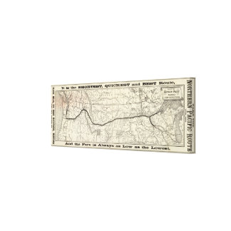 Mapa del ferrocarril pacífico septentrional impresion de lienzo