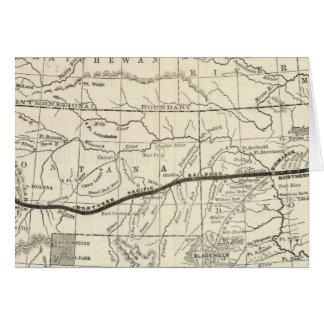Mapa del ferrocarril pacífico septentrional tarjeta de felicitación