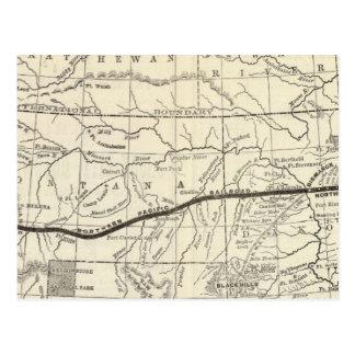 Mapa del ferrocarril pacífico septentrional tarjeta postal