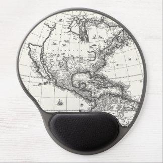 Mapa del gel Mousepad de Américas 1669 Alfombrilla De Ratón Con Gel