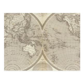 Mapa del globo postal