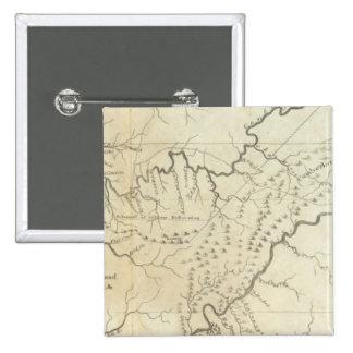 Mapa del gobierno de Tennassee sic Pin Cuadrada 5 Cm