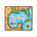 Mapa del Golfo de México Postal