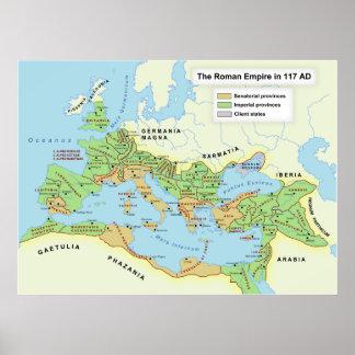 Mapa del grado máximo del imperio romano impresiones