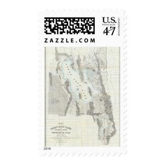 Mapa del Great Salt Lake Estampillas