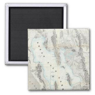 Mapa del Great Salt Lake Imán Cuadrado
