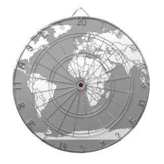 Mapa del gris y blanco del mundo