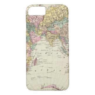 Mapa del hemisferio del este funda iPhone 7