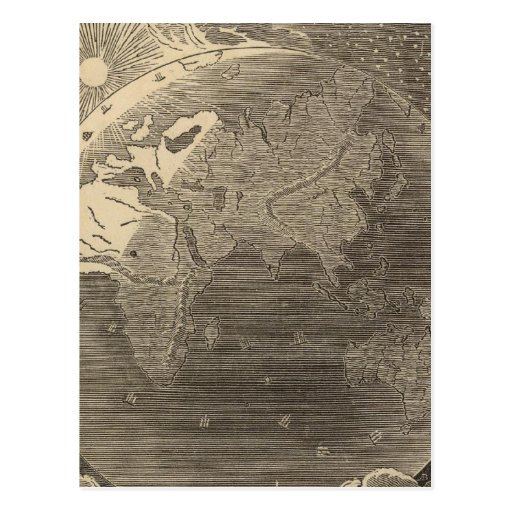 Mapa del hemisferio del este por Goodrich Postales