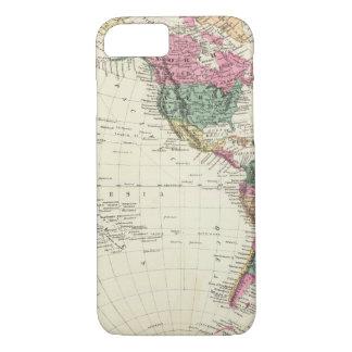 Mapa del hemisferio occidental funda iPhone 7
