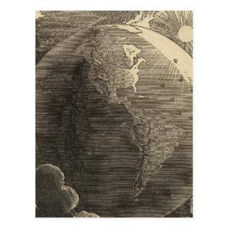 Mapa del hemisferio occidental por Goodrich Postales