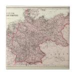 Mapa del imperio alemán azulejo cuadrado pequeño