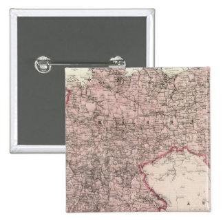Mapa del imperio alemán pin cuadrado